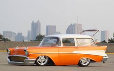 1957 Chevy Wagon Maintenance of old vehicles: the material for new cogs/casters/gears could be cast polyamide which I (Cast polyamide) can produce My Dream Car, Dream Cars, Classic Trucks, Classic Cars, Wagon R, Chevy Nomad, 1957 Chevy Bel Air, Classic Hot Rod, Car Chevrolet
