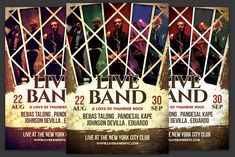 Live Band Flyer by KiraYamato on Concert Flyer, Live Band, Model Photos, Logo Templates, Thunder, Indie, Flyers, Conference, Alternative