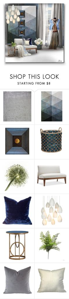 """""""In blue"""" by lenadecor ❤ liked on Polyvore featuring interior, interiors, interior design, home, home decor, interior decorating, Designers Guild, Elements, Paul Frank and Souda"""