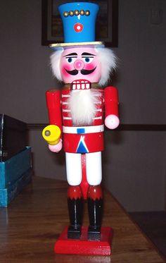 "WOODEN NUTCRACKER Soldier 14"" Tall"
