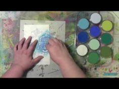 Using PanPastels with Stencil to Build a Pattern in an Art Journal
