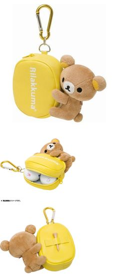 Bag Tags 173516: Golf Rilakkuma Porch Bag For 2 Balls C-114 Lite Japan Regisered F/S BUY IT NOW ONLY: $37.0