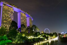Marina Bay Sands Hotel and The Singapore Flyer