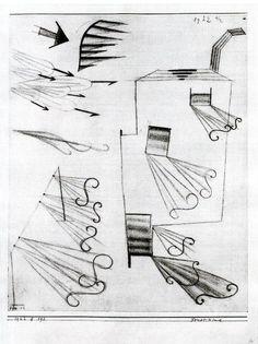 'feu vent 1' de Paul Klee (1879-1940, Switzerland)
