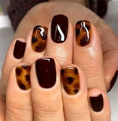 Over 120 stylish fall nail designs must try 41 ~ Design of . - Nails - Over 120 stylish fall nail designs to try 41 ~ Modern Home Design – - Love Nails, How To Do Nails, Fun Nails, Pretty Nails, Fall Nail Polish, Fall Gel Nails, Fall Nail Ideas Gel, Cute Fall Nails, Fall Nail Colors