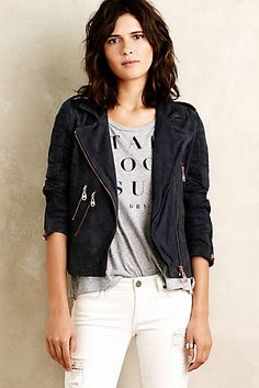Oxford Leather Moto Jacket