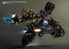 First Look at Arcee Combined in Concept Art Arcee (Motorcycle Gang Combo Mode 03)