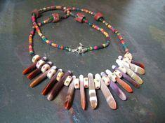Shaman Necklace Primitive Tribal  Sea Urchin Spine Bone Spike