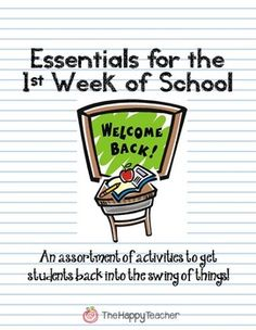 Printables and activities to keep students engaged during the first week of school!  No prep time required!  :)