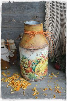 "Купить ""Pumpkin Season"" бидон - оранжевый, тыква, осень, кантри, бидон, урожай, сезон, кухня"