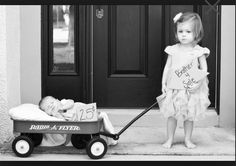 Sibling/newborn photography pose