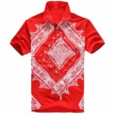 Red Collared Sublimated #T-Shirt