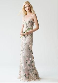 Jenny Yoo Collection (Maids) Julianna {BlushSandDune} #1767 V-Neck Bridesmaid Dress