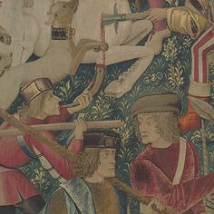 #5 Unicorn Killed & Brought 2 Castle Unicorn Tapestries, Tapestry, French Cartoons, Ancient Aliens, 16th Century, Ufo, Medieval, Fiber, Castle
