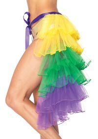 Layered Bustle Skirt Mardi Gras Costume - NOT Mardi Gras colors...but can you say Queen of hearts?