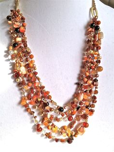 women jewelry necklace Multi strand jewelry Women by fatash1