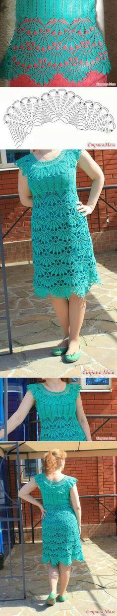 "Crochet dress with graf [ ""Crochet dress with chart."" ] #<br/> # #Crochet #Dresses,<br/> # #Crochet #Tops,<br/> # #Knit #Crochet,<br/> # #Crochet #Outfits,<br/> # #Crochet #Stitches,<br/> # #Crocheting #Patterns,<br/> # #Crochet #Ideas,<br/> # #Dresses,<br/> # #Facebook<br/>"