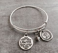 Lawyer Bracelet Gift for Lawyer Graduation Silver by SAjolie