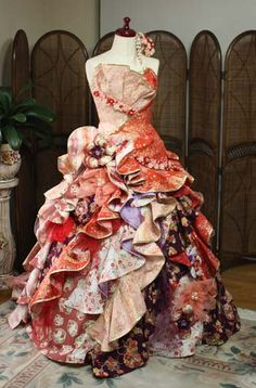 Pin by Kara Hoiberg on fashion Flower Dresses, Ball Dresses, Ball Gowns, Stunning Girls, Beautiful Dresses, Kimono Dress, One Piece Dress, Kimono Fashion, Alternative Fashion