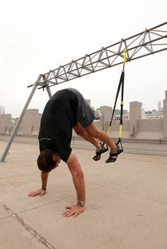 5 Toughest TRX Exercises for a Full-Body Workout - don't know if you noticed but they added TRX posters and equipment at the AFC, might want to try it out!