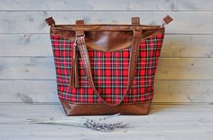 Ladies Brown Recycled Leather Zipped by Maybemabelhandmade on Etsy