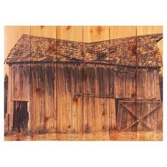 """Western red cedar wall art with a barn motif.  Product: Wall artConstruction Material: Red cedarDimensions: Small: 16"""" H x 22"""" W x 1.25"""" D Large: 24"""" H x 33"""" W x 1.25"""" D"""