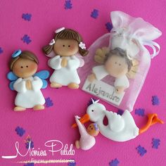 Polymer Clay Figures, Cute Polymer Clay, Polymer Clay Crafts, Diy Clay, Christmas Angels, Christmas Ornaments, Cake Templates, Fondant Cake Toppers, Cowboy Party
