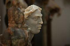 #JavierMarin, en el estudio. #escultura, #sculpture