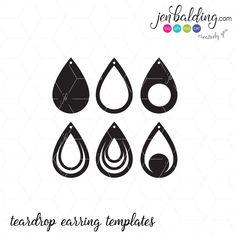 Teardrop Earring Templates – SoFontsy
