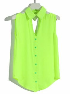 Green Light fora do ombro mangas ocas Chiffon Blusa fotos
