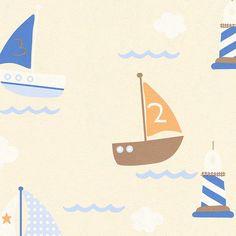 AS Creation Boys & Girls Wallpaper | Little Blue Boat | 93554-8