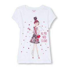 a0e5db02 50 Best Children's place girls graphic tees images | Graphic t ...
