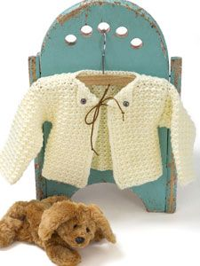 Caron free crochet pattern for baby sweater - boy/girl