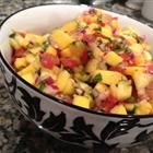 mango salsa...soooo good on top of fish, fish tacos and other Mexican dishes