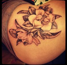 Magnolia tattoo- Mikayla C. I want a similar style for my next tat.