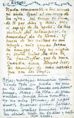 Frida Kahlo love letteres