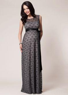 c25170c5ebf Tiffany Rose - Daisy Black Silver Lace Evening Gown