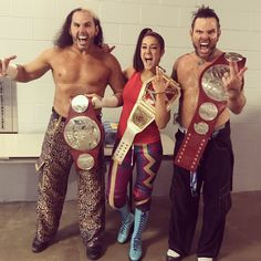 Matt, Jeff Hardy, Bayley