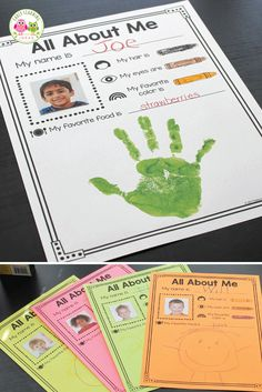 Here is a fun activity idea for your all about me theme unit and lesson plans in preschool and pre-k. Kids will love this free printable that is simple enough for your students in an early childhood Preschool Learning Activities, Preschool Lesson Plans, Back To School Activities, Preschool Themes, All About Me Activities For Preschoolers, Preschool First Week, Pre K Lesson Plans, Back To School For Preschoolers, Preschool Classroom Jobs