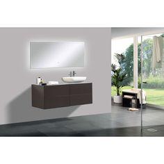 Meubles de salle de bain Vision 800 blanc mat lavabo avec miroir et comptoir en option