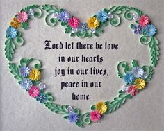3D Quilling Framed Heart of Paper Filigree by ShortHenStudio, $125.00 love this verse