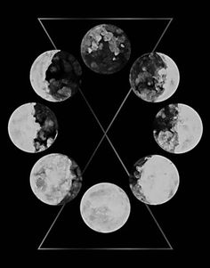 """Sacred Geometry of the Lunar Phases. Symbole Viking, Lunar Phase, Moon Magic, Moon Art, Galaxy Wallpaper, Moon Phases, Stars And Moon, Sun Moon, Sacred Geometry"