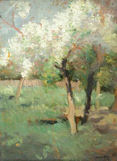 Paintings of Spring BLOG: Ipolit Strambu - Peisaj de primavara Spring Landscape, Painting & Drawing, Roman, Great Gifts, Drawings, Landscapes, Notebook, Artists, Garden