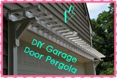 DIY garage door pergola tutorial
