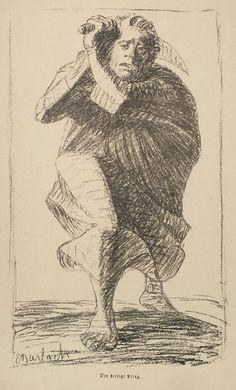 Ernst Barlach – The sacred war (Der heilige Krieg), 1914