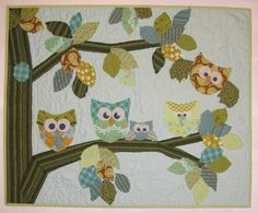 Baby Quilts   blog_owl baby quilt ed_knudsen » Karin Knudsen: studio journal