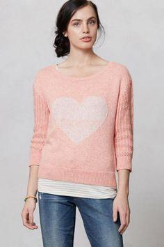 Heart Intarsia Sweater #Anthropologie @Anthropologie via @TaggTo