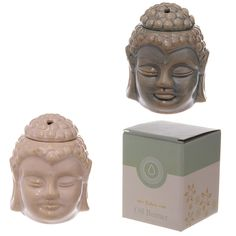 Ceramic Buddha Head Design Crackle Glazed Oil Burner, with gift box. Our range of oil burners covers a huge selection of designs and colours and wh Thai Buddha, Ceramic Oil Burner, Fragrance Oil Burner, Oil Warmer, Burner Covers, Aroma Essential Oil, Buddha Head, Oil Burners, Incense Holder