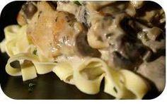 poulet-a-la-creme-et-aux-champignons