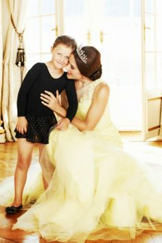 Crown Princess Mary of Denmark with her daughter Princess Isabella
